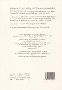 Al Berto – Trois Lettres de la Mémoire des Indes