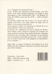 Bleys Olivier – L'Epitre à Loti