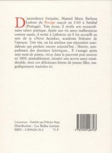Bocage – Lettres de demoiselles Olnde et Alzire