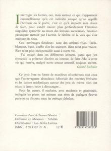 Bocholier Gérard – Les Ombrages fabuleux