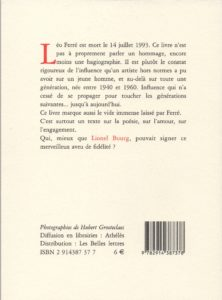Bourg Lionel – La Faute à Ferré