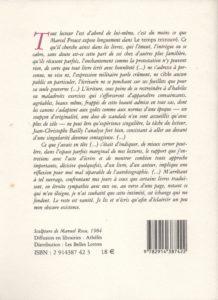 Bourg Lionel – Quelques ombres portées