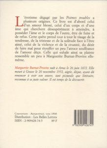 Burnat-Provins Marguerite – Poèmes troubles