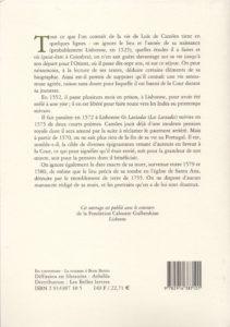 Camoes (de) Luis – La poésie lyrique