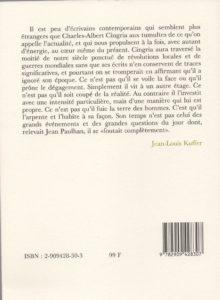 Cingria Charles-Albert – Anthologie