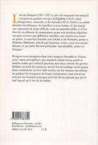 Gongora (de) Luis – Fable de polyphène et galatée