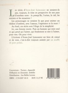 Lemonnier Anne-José – Fugue bleue