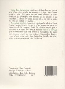 Lemonnier Anne-José – Journal de Lumière