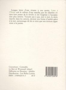 Lemonnier Anne-José – Lettre à l'océan