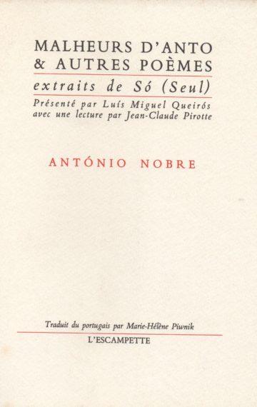 Malheurs d'Anto & autres poèmes