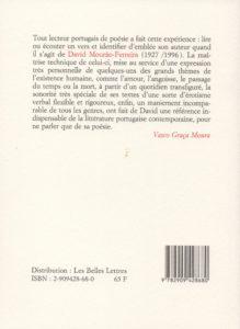 Mourao-Ferreira David – Du temps jusques au coeur