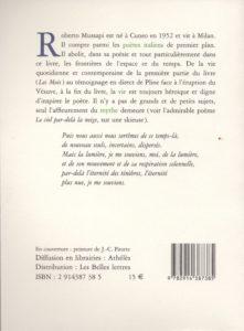 Mussapi Roberto – La Poudre et le feu