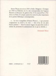Pincas Anton – Discours sur le temps
