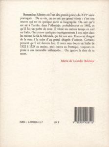 Ribeiro Bernardim – Chagrins et amours de quelques bergers