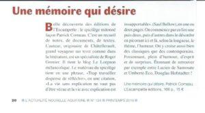 L'ACTUALITÉ NOUVELLE AQUITAINE – Printemps 2019